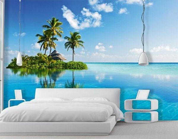 Fototapeten F?r Wohnzimmer : Beach Themed Wall Decorations