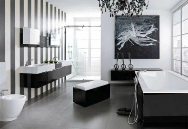 wandfarbe ideen badezimmer schwebende waschkommode