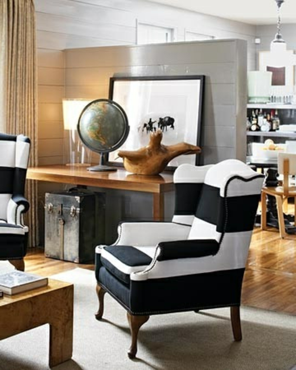 gestreifte st hle wohnzimmer m belideen. Black Bedroom Furniture Sets. Home Design Ideas