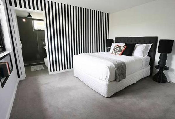 wandfarbe ideen schlafzimmer schwarz weiß