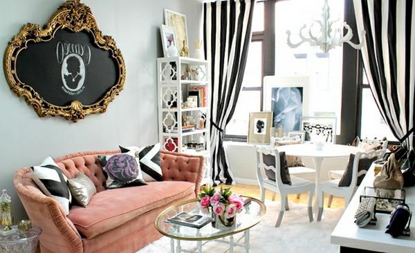 wohnzimmer schwarz weis pink ~ dekoration, inspiration innenraum ...