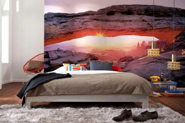 wandgestaltung realistisch wohnzimmer beleuchtung