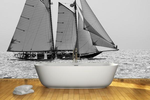 wandgestaltung realistisch badezimmer schiff