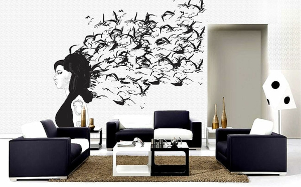 innovative wandtattoos das neue aussehen der fototapete oder nicht. Black Bedroom Furniture Sets. Home Design Ideas