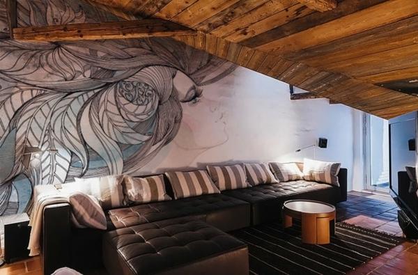 wandtattoo sofa in schwarz