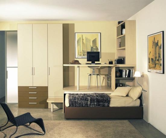 warme atmosphäre Kleiderschrank  Garderobe beige farben oberflächen