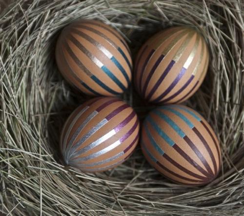 klebeband streifen fein gestreifte eier