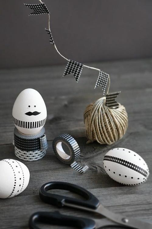 washi tape ostereier basteln bastelideen zum nachmachen. Black Bedroom Furniture Sets. Home Design Ideas