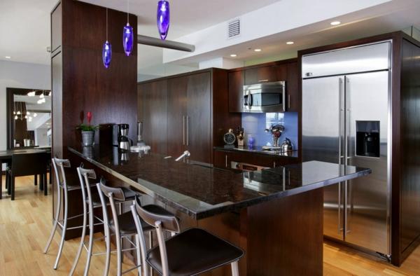 wohnideen erhellen licht tipps küche insel holz raumgestaltung