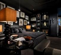 wohnideen und tipps, wie sie ihre wohnung erhellen können - Schlafzimmer Komplett Schwarz