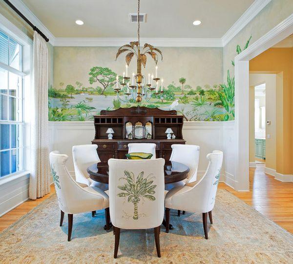 Schlafzimmer Mit Vielen Pflanzen: Wohnideen Mit Palmwedel-Prints