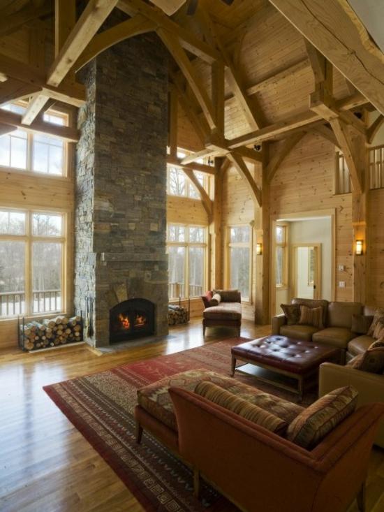 alte holzbalken und steinwände garantieren eine warme atmosphäre - Wohnideen Wohnzimmer Rustikal