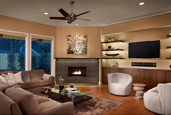 Wohnzimmer mit kamin und fernseher  Schicke Wohnzimmer einrichten - 15 moderne Wohnideen