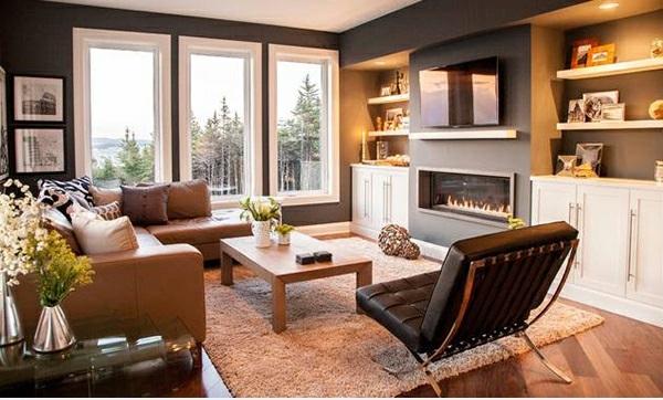 schicke wohnzimmer einrichten 15 moderne wohnideen. Black Bedroom Furniture Sets. Home Design Ideas
