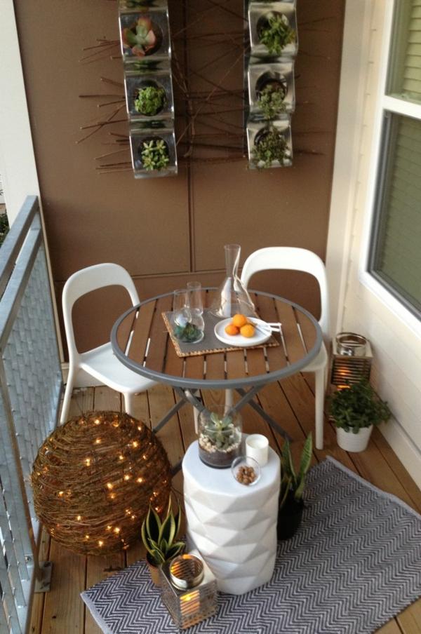 öko moderne terrasse tisch stühle dekoideen beleuchtung