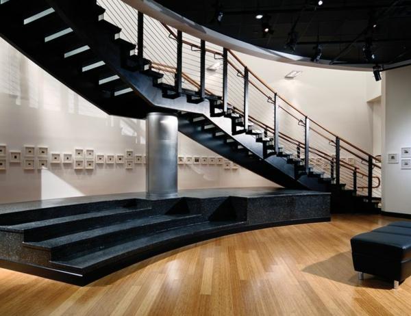 101 moderne treppen erscheinen als blickfang in ihrer wohnung for Modernes haus 2 etagen