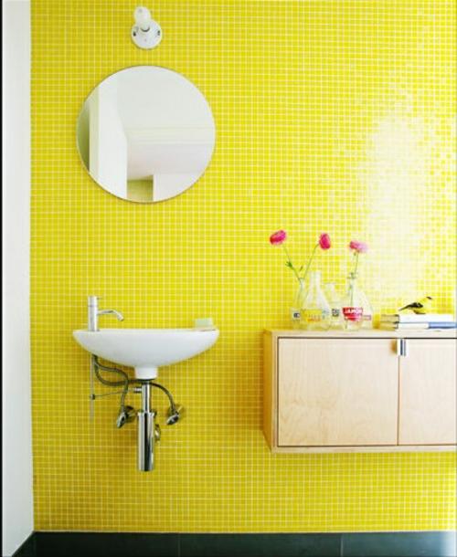 Farben Gelb Badezimmer Und Badezimmerfliesen