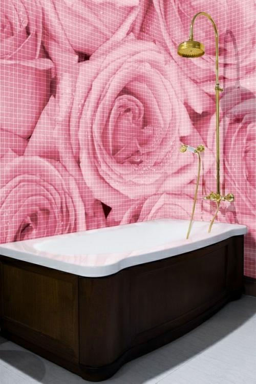 originell einrichtung Badezimmer und Badezimmerfliesen rosen
