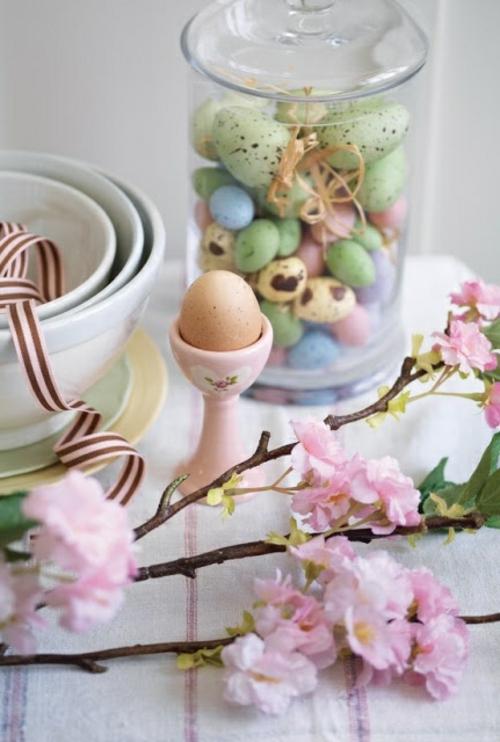 Bastelideen teller glas auffallen Ostern eierhalter