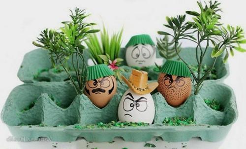 Bastelideen Ostern eierverpackung