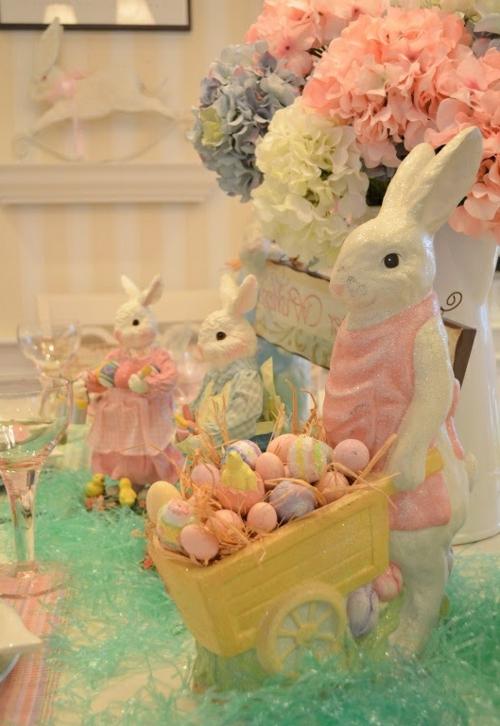 keramisch porzellan Bastelideen für Ostern hasen niedlich
