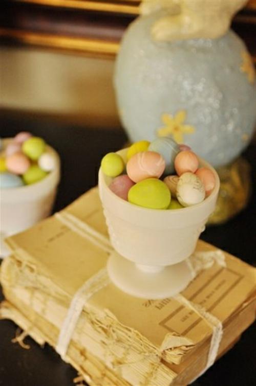 Bastelideen Ostern keramisch schale