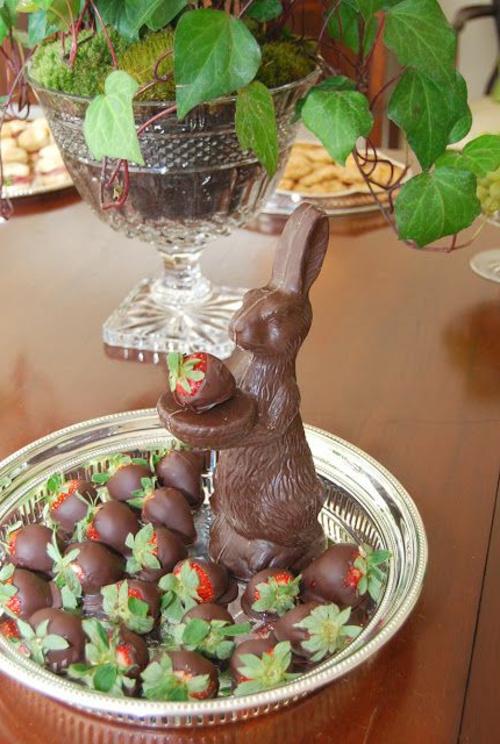 schokoladen hasen Ostern kreative deko