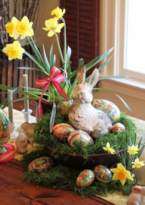 Bastelideen festlich thematisch Ostern narzissen frühling