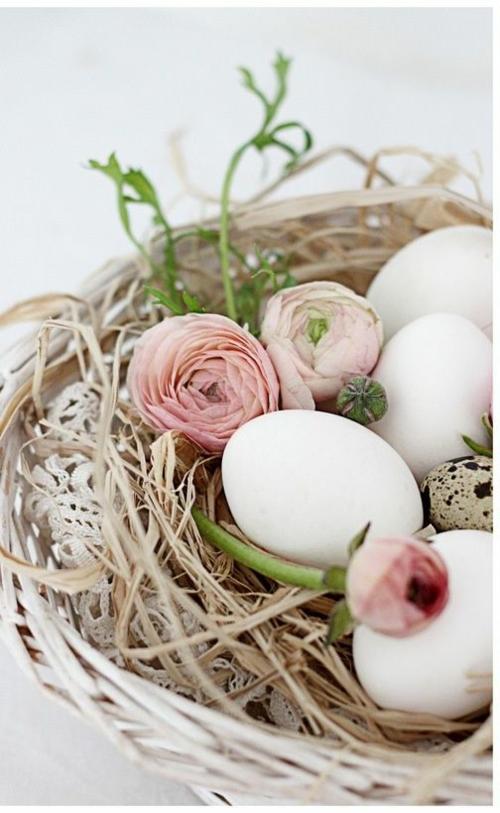 rosen garten blass Ostern nest eier