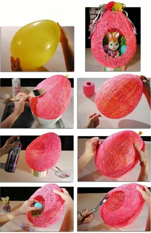 Bastelideen ballon Ostern selbst basteln