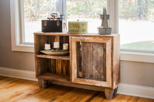 DIY bastelideen anrichte Coole Möbel aus Europaletten