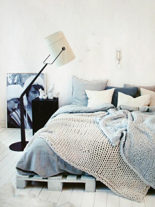 DIY bastelideen bettgestell Coole Möbel Europaletten