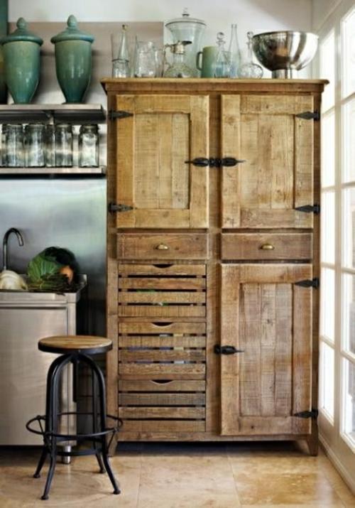 Coole Möbel DIY bastelideen küchenschrank Europaletten