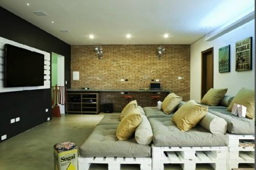 DIY bastelideen kinoraum Möbel aus Europaletten