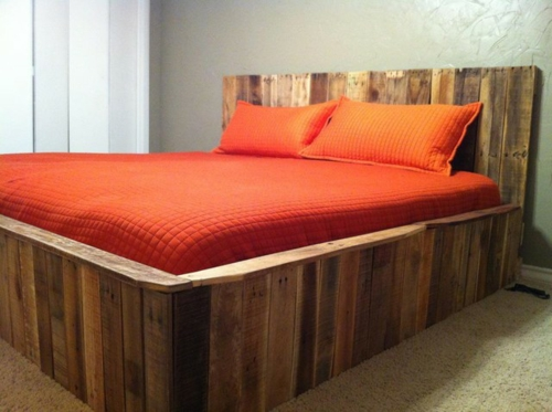 DIY bastelideen schlafzimmer bett Coole Möbel aus Europaletten