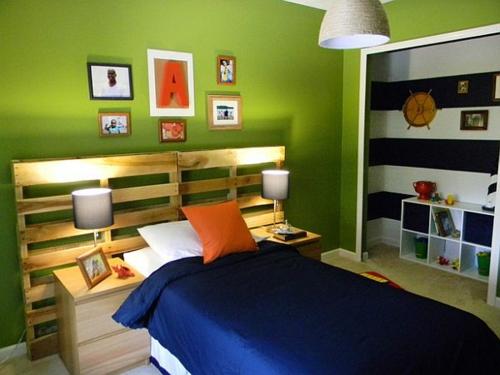 Coole Möbel bastelideen schlafzimmer Europaletten DIY