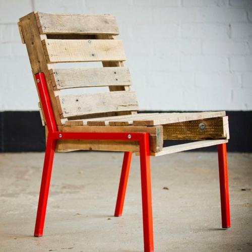 bastelideen stuhl rückenlehne Coole Möbel aus Europaletten DIY