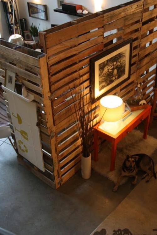 bastelideen trennwand Coole Möbel aus Europaletten DIY