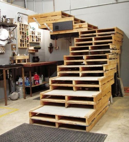 Fabulous Coole Möbel aus Europaletten - 55 Bastelideen für alte Holzpaletten JE46