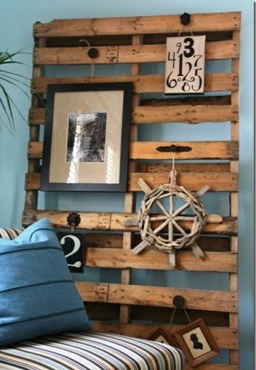 bastelideen wand kopfteil Coole Möbel aus Europaletten DIY