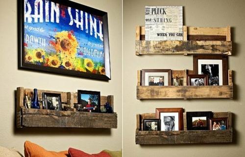 bastelideen wandregale Coole Möbel aus Europaletten DIY