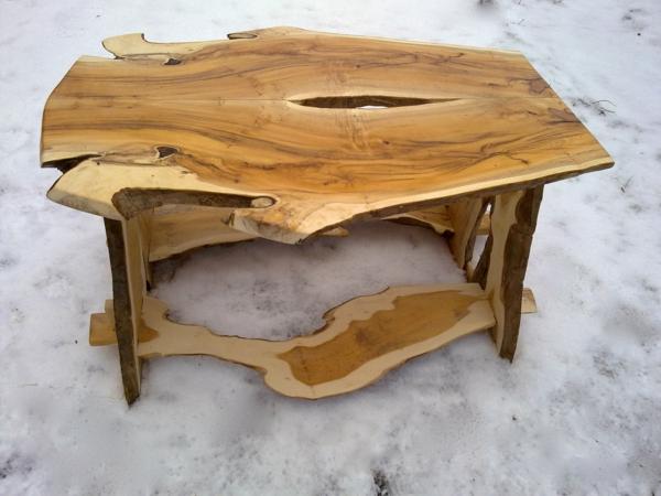 Couchtisch selbst bauen wohnzimmer kaffeetische holz naturholz