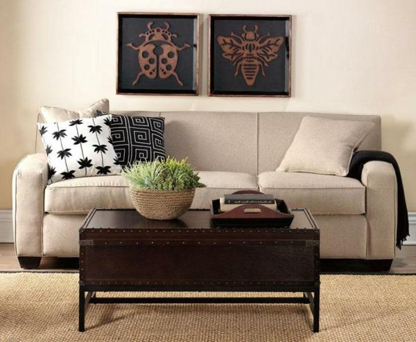 Couchtisch bauen wohnzimmer kunst art