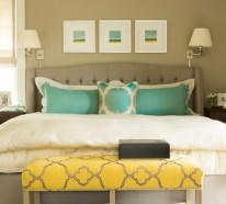 20 bunte Dekoideen fürs Schlafzimmer – Dekoartikel und Designmethoden