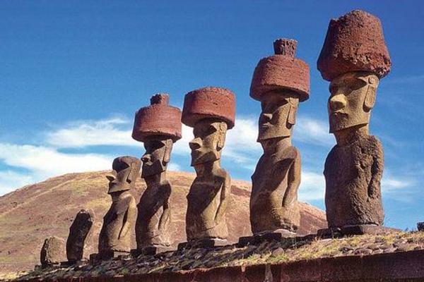 chile hut Die erstaunlichen Osterinseln steine
