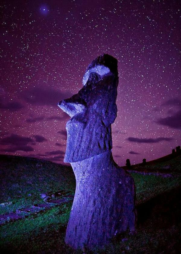 purpurrot himmel Die erstaunlichen Osterinseln chile sterne