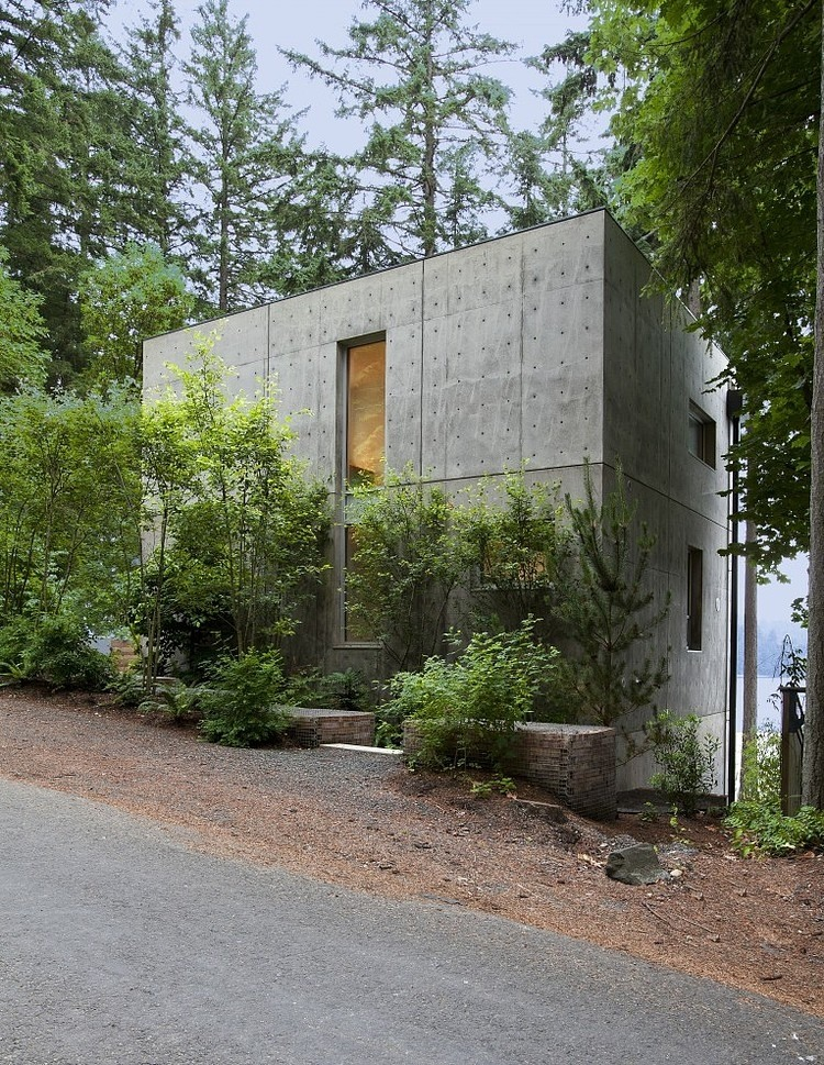 Dorsey Residenz Seattle betonmauer wand Sichtbeton zu Hause