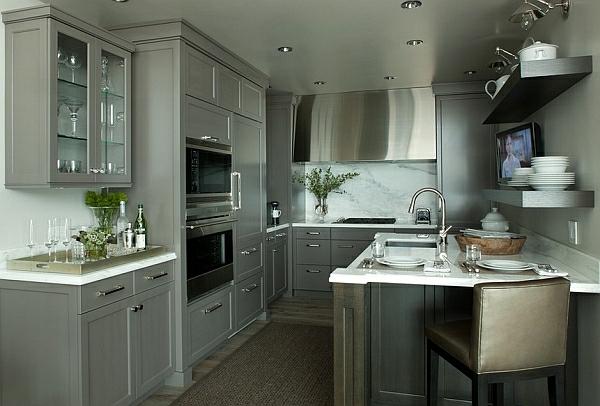 monochromatisch maskulin Farben für Küchenschränke