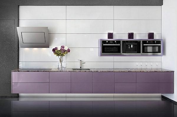 Farben für Küchenschränke purpurrot dunkel