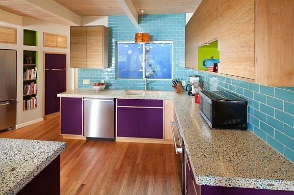 Farben für Küchenschränke purpurrot glanz bodenbelag marmor